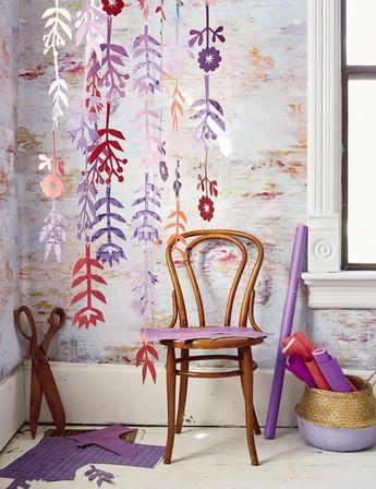 DIY Floral Cutout Mobiles + Craft the Rainbow Blog Tour