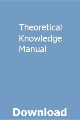 Theoretical Knowledge Manual