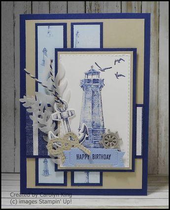 Come Sail Away. Handmade layered birthday card #handmade #birthdaycard #scrapbooking
