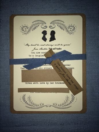 jane austen bridal shower invitations by withlovebyjoanna on etsy