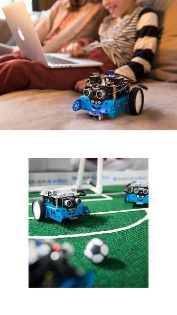 mBot von Makeblock ist ein Lernroboter für Anfänger, der den Einstieg in das Programmieren von Robotern einfach macht. Mit einem Schraubendreher, einer Schritt-für-Schritt-Anleitung und einem Lernzeitplan können Kinder einen Roboter von Grund auf bauen. Mit dem mBot Roboter wird schon das Öffnen der Verpackung zu einem Lernerlebnis.