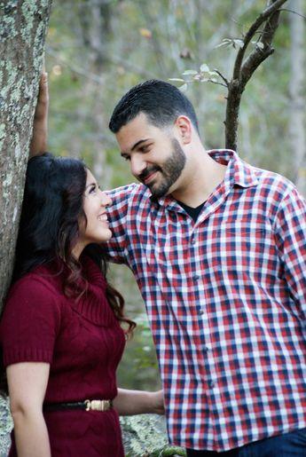 Autumn engagement photo session Great Falls, VA Gloria Gibrael Photography
