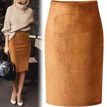 Suade Pencil Skirt