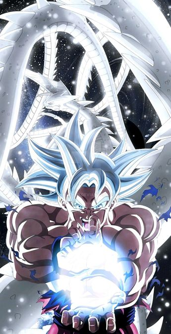 Goku & Shenron Ultra Instinct Mastered, Dragon Ball Super #love #happy #dragonball #anime #dragonballz #dbz