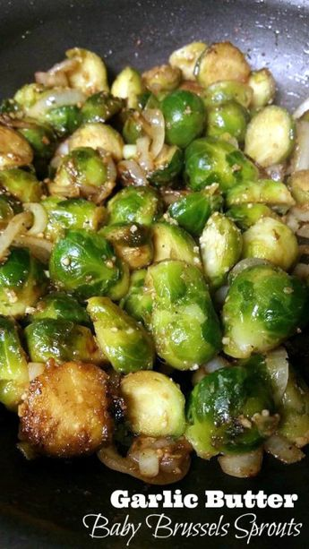I can not control myself around these Garlic Butter Baby Brussels Sprouts!  The BEST veggie ever!  The whole family loves these!