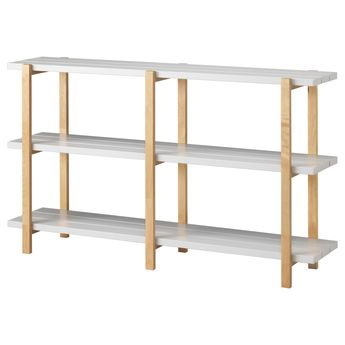 YPPERLIG Shelf Unit Light Gray Birch