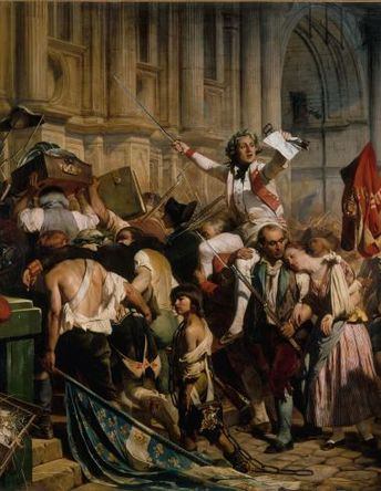 """Paul Delaroche was entrusted with the depiction of """"the People returning victorious from the Bastille"""". 