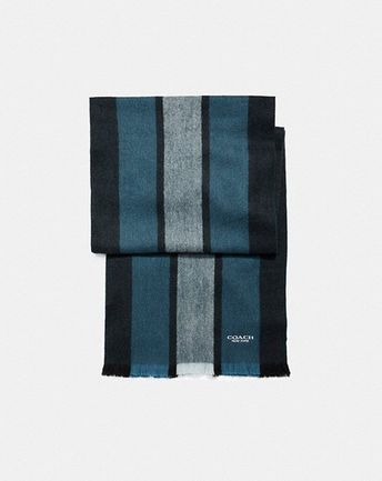 Coach Nwt Men S Cashmere Wool Scarf Limited Edition Fashion Clothing Shoes Accessories