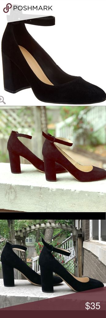 b789490ff4243 Marc Fisher Suede Pumps with Ankle Straps Gently worn. Chunky heel. Size  10M.