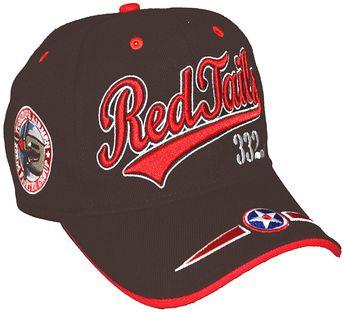 TUSKEGEE AIRMEN Baseball Cap Red Tails BROWN Hat Air Force Black History - C4186TNMGI5