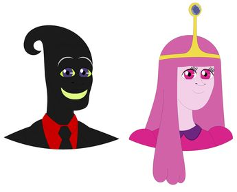Nergal And Princess Bubblegum As Handsome Prince and Beauti