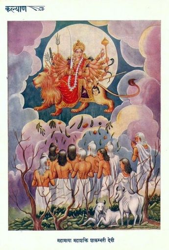 Parashakti Devi - The Great Goddess In Space Poster by Anan