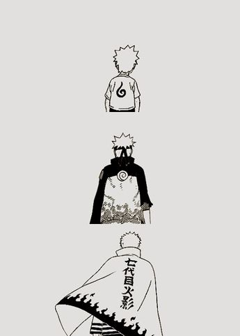 Uzumaki Naruto. This picture just show us how naruto transform from zero to hero. So don't give up! Follow Our Pinterest For More Anime Daily