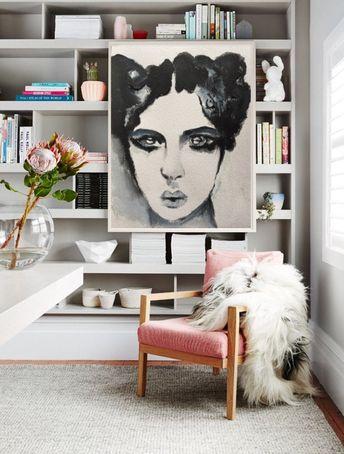 Portrait Painting Print, Goth Decor Poster, Printable Wall Art, Gothic Woman Portrait, Black Art, Living Room Decor, 40th Birthday Gift