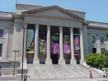 The Franklin Institute (named after the noted American scientist and statesman Benjamin Franklin) is a museum in Philadelphia, Pennsylvania, and one of the oldest centers of science education and development in the United States, dating to 1824. The Institute also houses the Benjamin Franklin National Memorial.