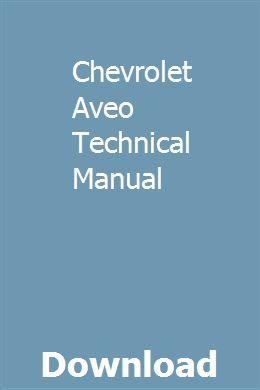 Chevrolet Aveo Technical Manual pdf download