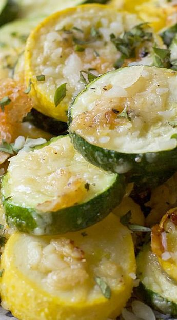 Garlic Parmesan Zucchini & Squash