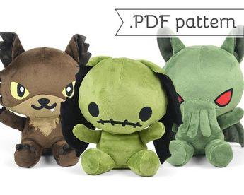 dd50dab099621 Animal head sewing pattern. Faux taxidermy PDF deal 3 for
