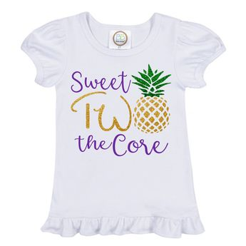 Two Years Old Birthday Shirt Sweet TWO The Core Second