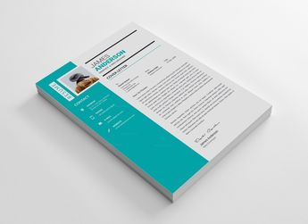 Minimal CV Design Template 002880 5