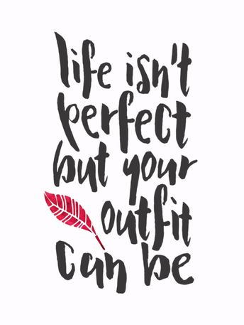 Life Isn't Perfect Hand Drawn Fashionista Quote Postcard | Zazzle.com