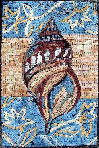 Shell Marble Mosaic Hand Made