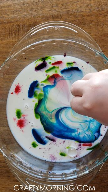 Magic Milk Science Experiment - Crafty Morning