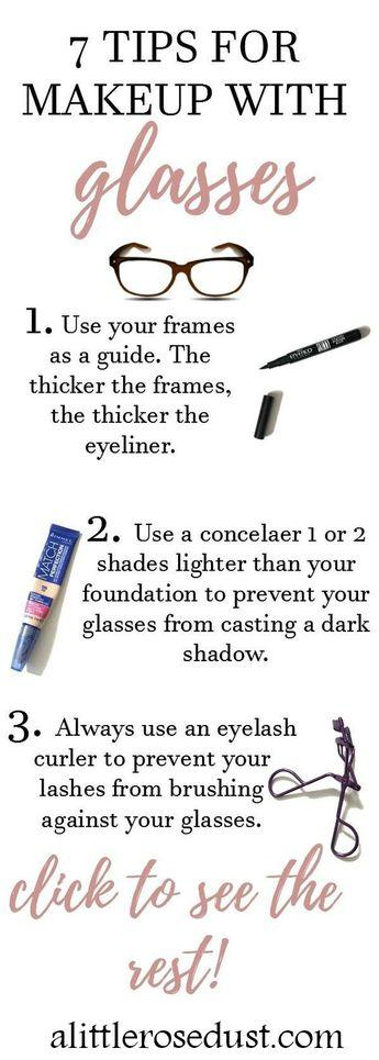 Tips for Makeup with Glasses - alittlerosedust.com