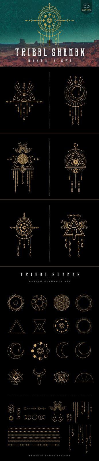 Symboles chamaniques lunaires