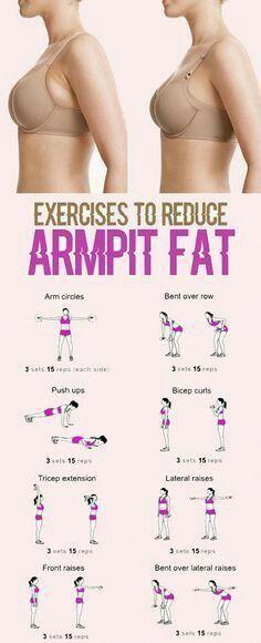 Exercices visant à réduire la graisse corporelle #exercices #fitness # workout #health #armpitfat