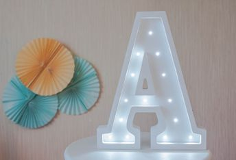 Marquee Letters Verlichting : Diy letter symbol sign heart lighting plastic led lights w