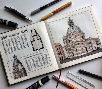Superb architectural illustrations by Oğuzhan Çengel (@mr__constantine) on Instagram. #art #architecture #building #sketchbook