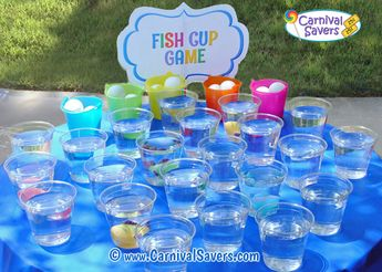 Almost Free DIY Carnival Game - Fish Cup Game