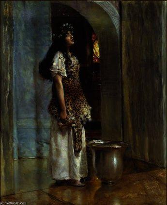 Lawrence Alma-Tadema - A Priestess of Apollo