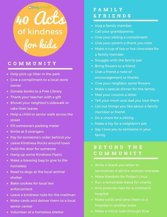 40 Acts of Kindness for Kids