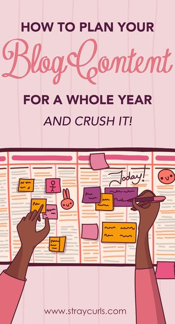 How to Plan your Blog Content Strategy for a Whole Year and Crush it!