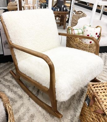 Superb Esters Wood Arm Chair Sherpa White Project 62 Evergreenethics Interior Chair Design Evergreenethicsorg