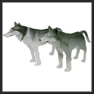 Canon Papercraft: Animals Paper Model - Timber Wolf free papercraft download