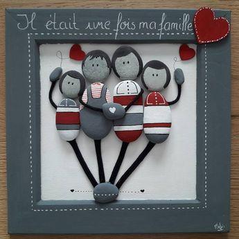 """9 mentions J'aime, 3 commentaires - Ingrid Lungarella (@ingridlimbourg2b) sur Instagram : """"Art#galets#peinture#famille#iletaitunefois#amour#enfants#mesuivre#decoration#followme#parents#deuxfilles#"""""""