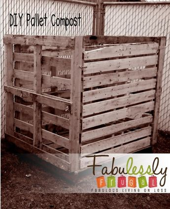 DIY Pallet Compost Bin. Love this!