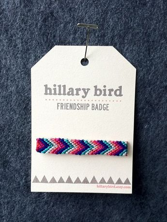 friendship badge. the grownup version of the friendship bracelet.