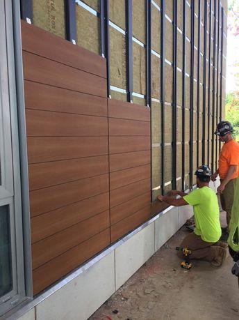 L'installation de Trespa est en cours aux appartements Serenity! (GC: Suffolk Constructio...