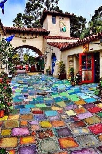 24 Classic Painted Floor Tiles Get An Artistic Floor