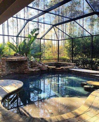 25+ Lovely Swimming Pool Backyard Design Concepts - #Beautiful #Design #Garden #Ideas #Pool #Swimming