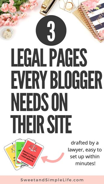 In this article, a lawyer and blogger breaks down the essential parts of every legal page that you need for your website. Protect your blog legally and set up your privacy policy, terms and conditions, and disclaimer today. #legal #blogging #blogtips Turn Your Blog Posts into Money Machines!Take Look Inside.