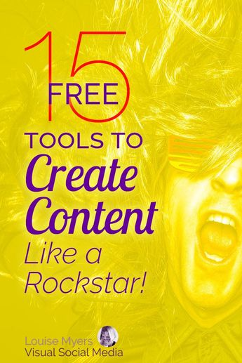 Marketing tips for small business: If your content marketing budget is tight, these 15 FREE tools will help. Click to blog to learn how to make PDFs, graphics, infographics, videos and slideshows – for FREE! | #LouiseM #ContentMarketing #MarketingTips #SmallBusinessTips #SMM #SocialMediaMarketing