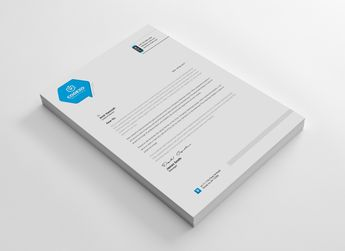 Energy Professional Corporate Letterhead Template - Graphic Templates