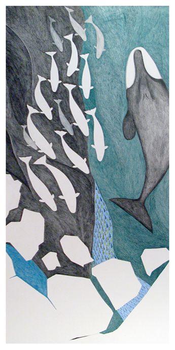 Feeding whales, Tim Pitsiulak