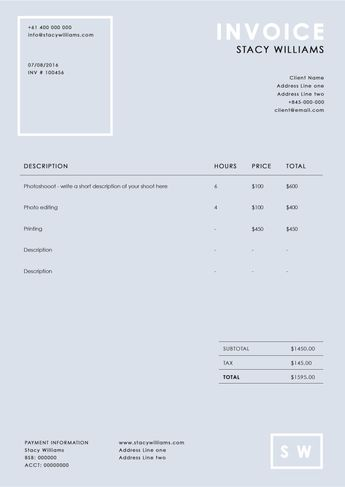 photography invoice template photography receipt ms word and photoshop template sleek invoice design