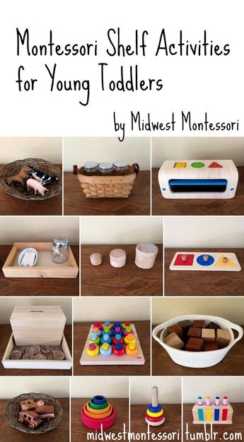 Montessori shelf activities for young toddlers